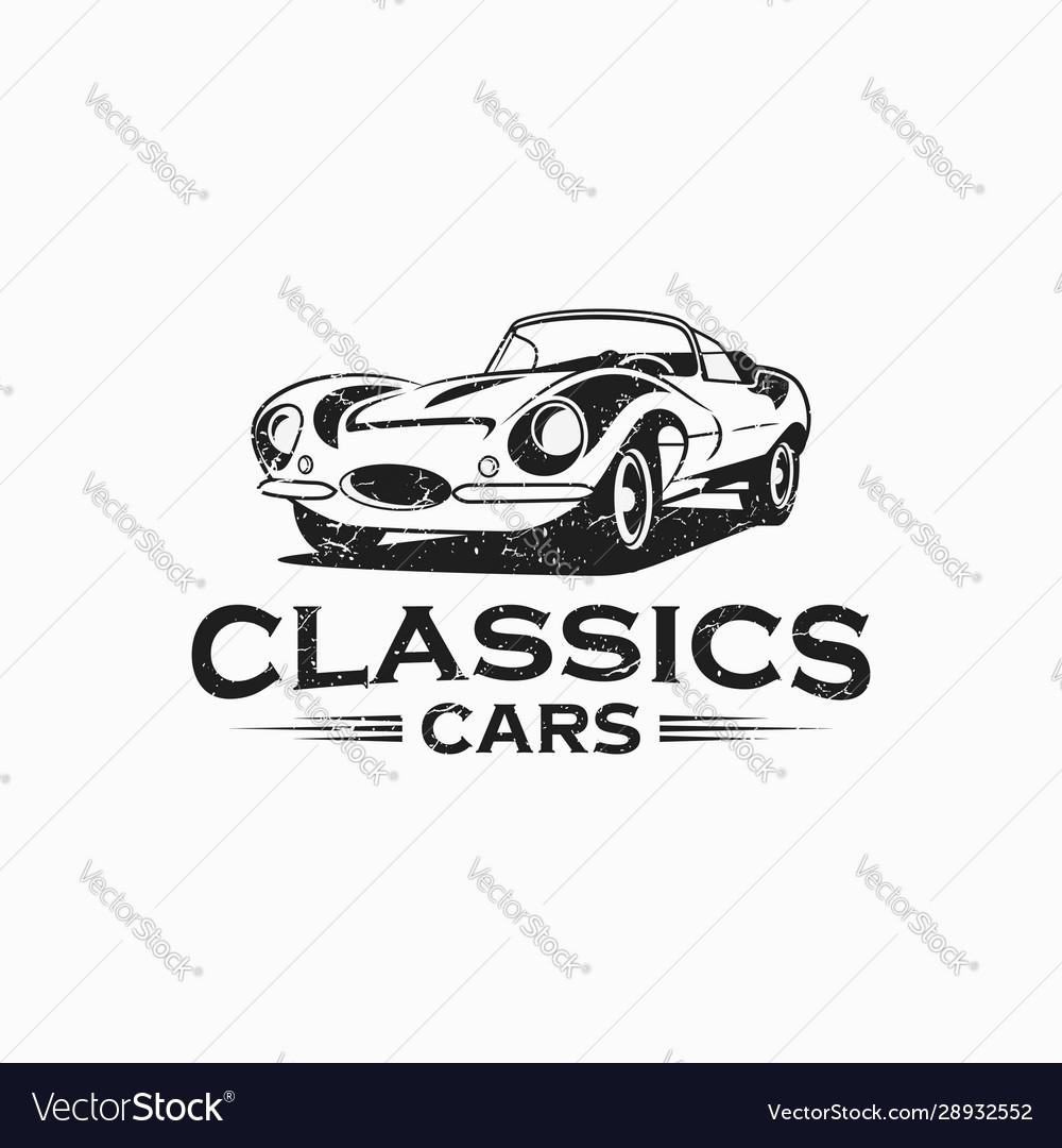 Classic car vintage logo