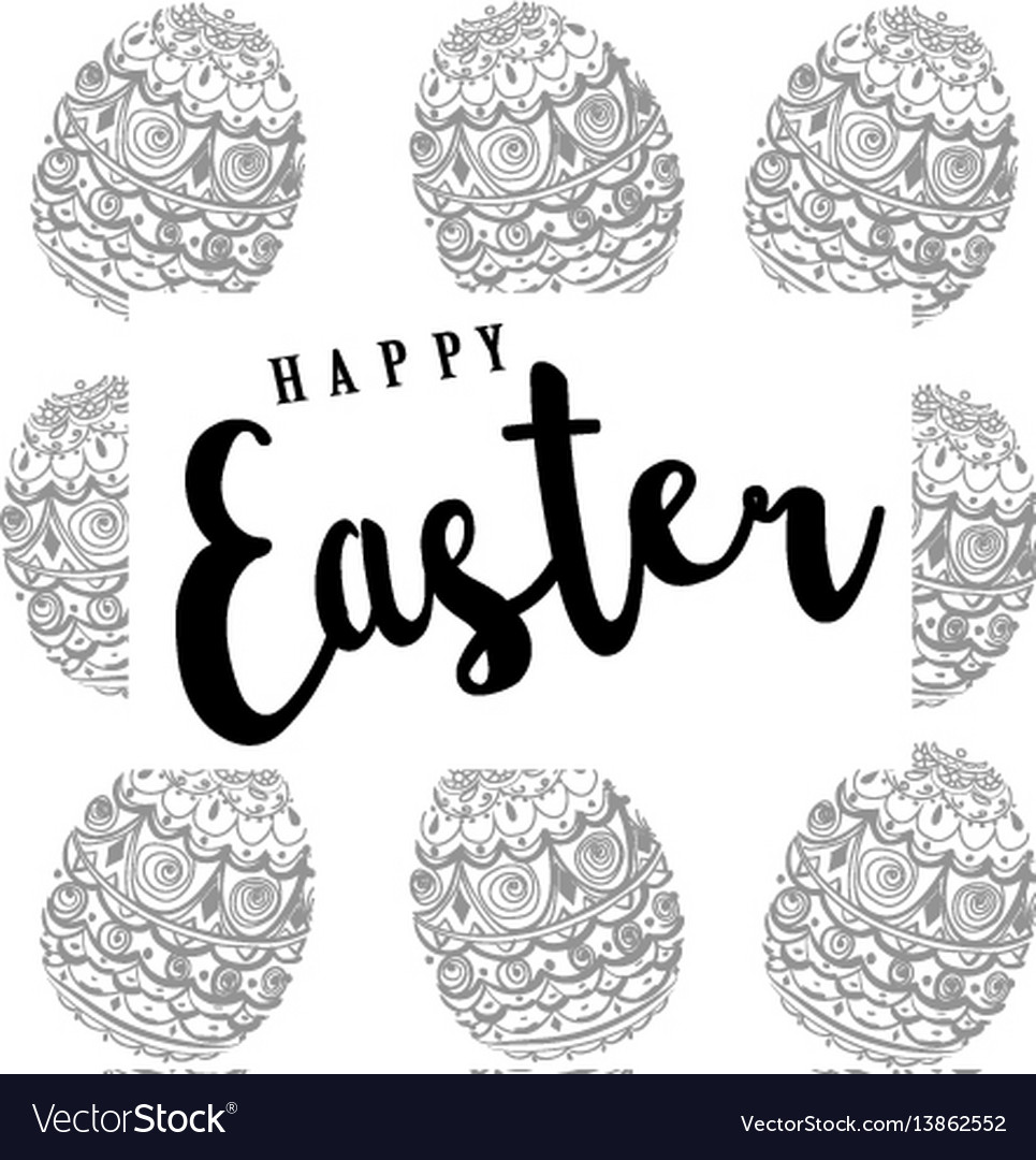 Easter pattern background with eggs