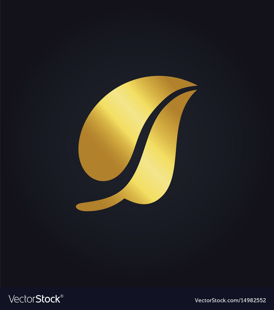 Gold leaf nature organic logo