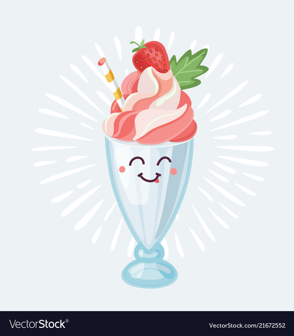 Milk shake character icon