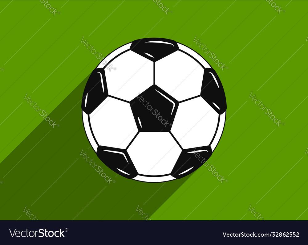 Soccer ball icon flat design