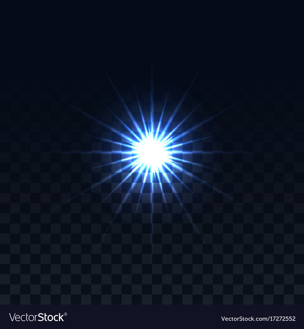 Star on a transparent background glowing