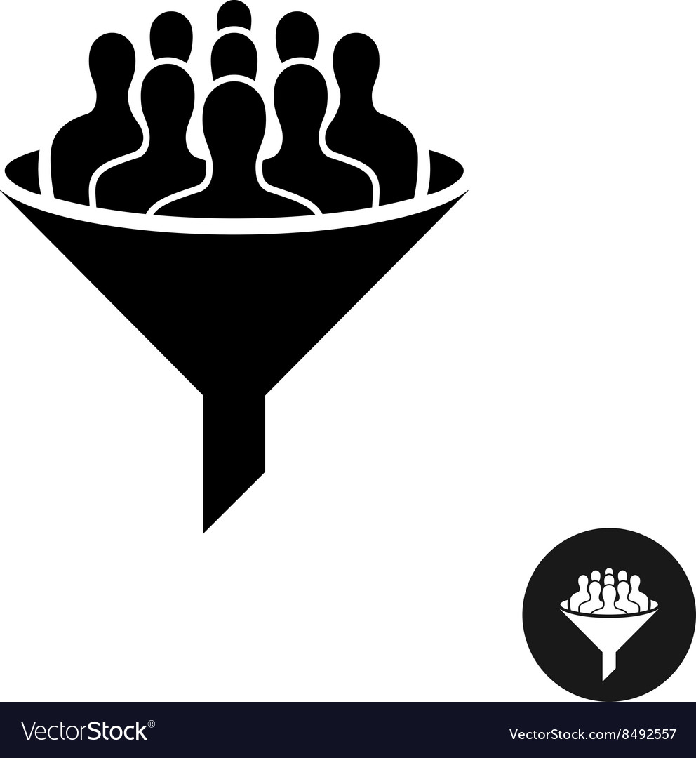Crowdfunding icon Crowd of people silhouette with