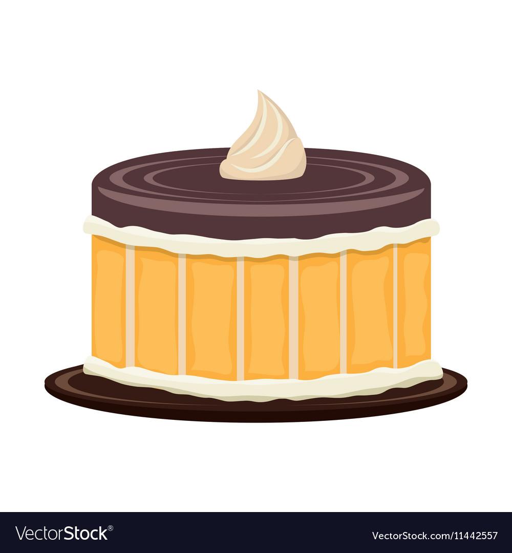 Delicious sweet cake birthday