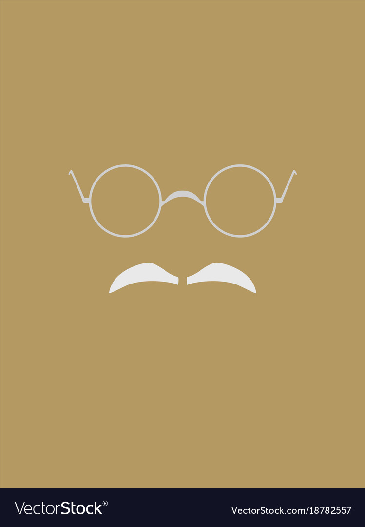 Eyeglasses And Gray Mustache Symbol Royalty Free Vector