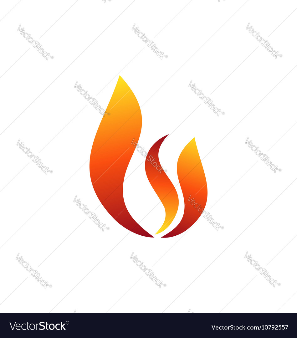 Fire flame logo hot fire symbol icon design sign