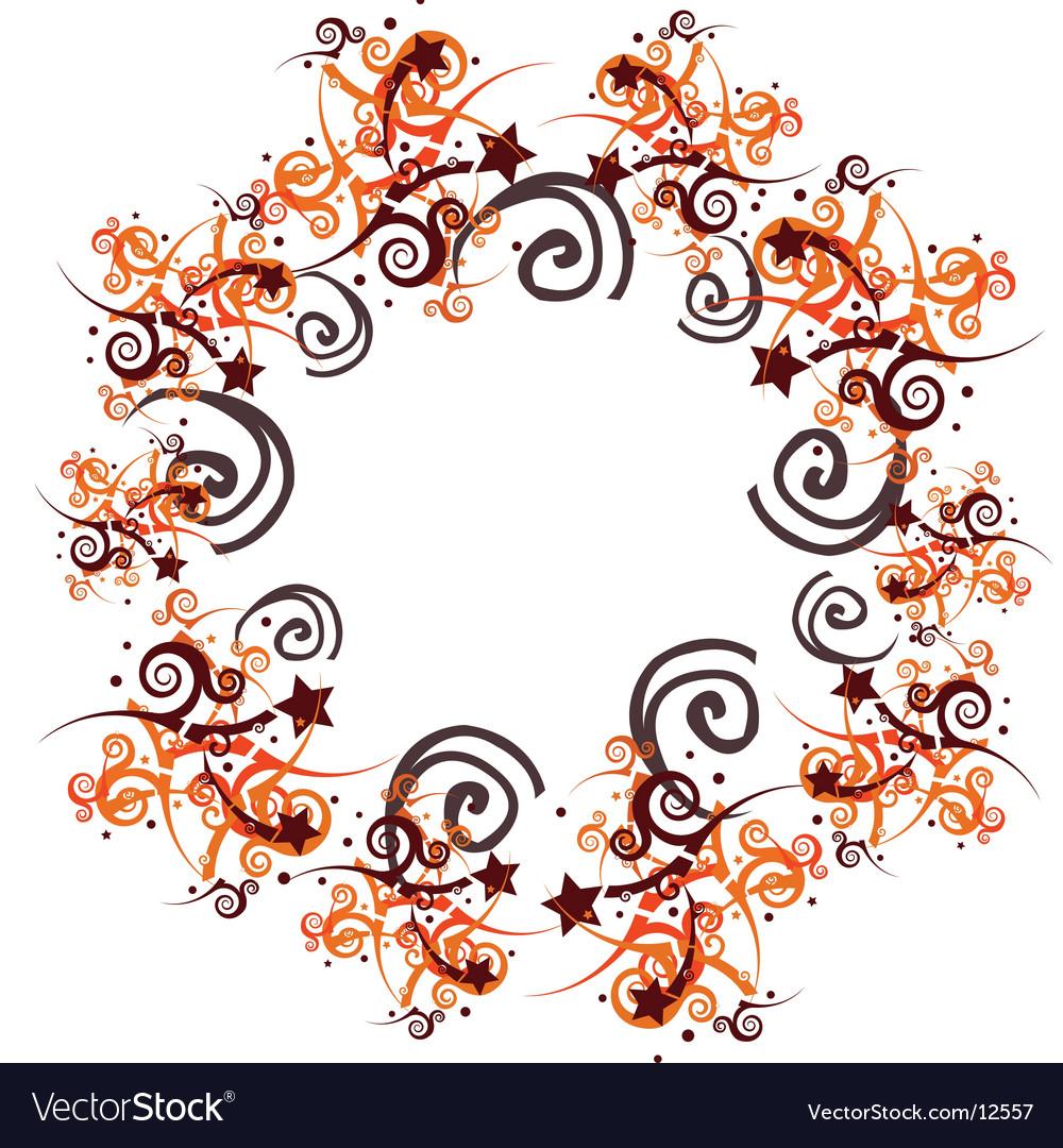 Graphic swirl frame