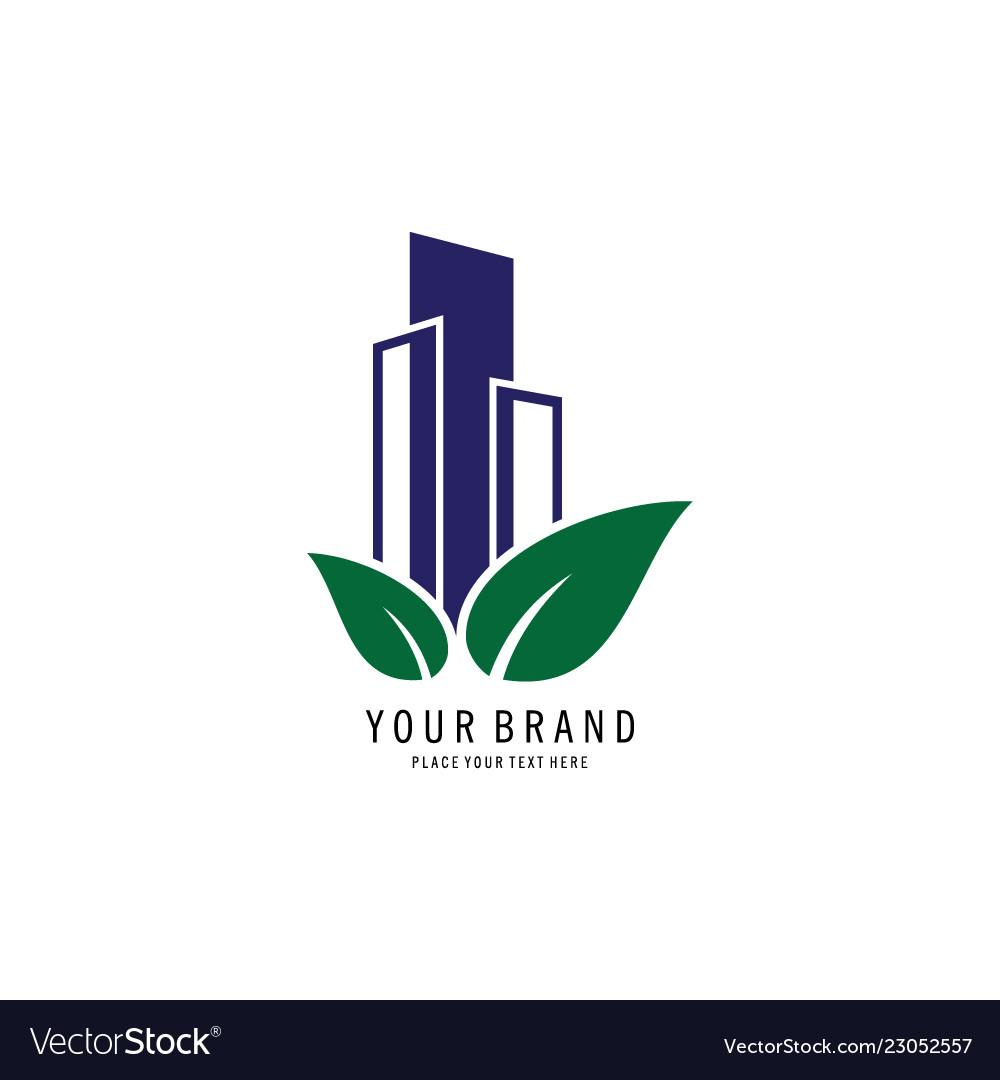 Green tower symbol logo