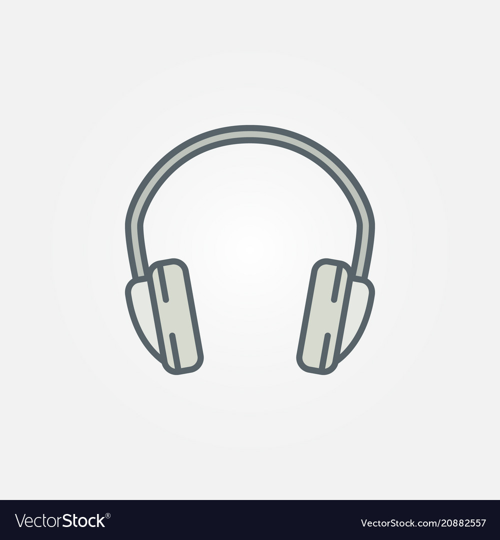 Headphone isolated minimal colorful icon