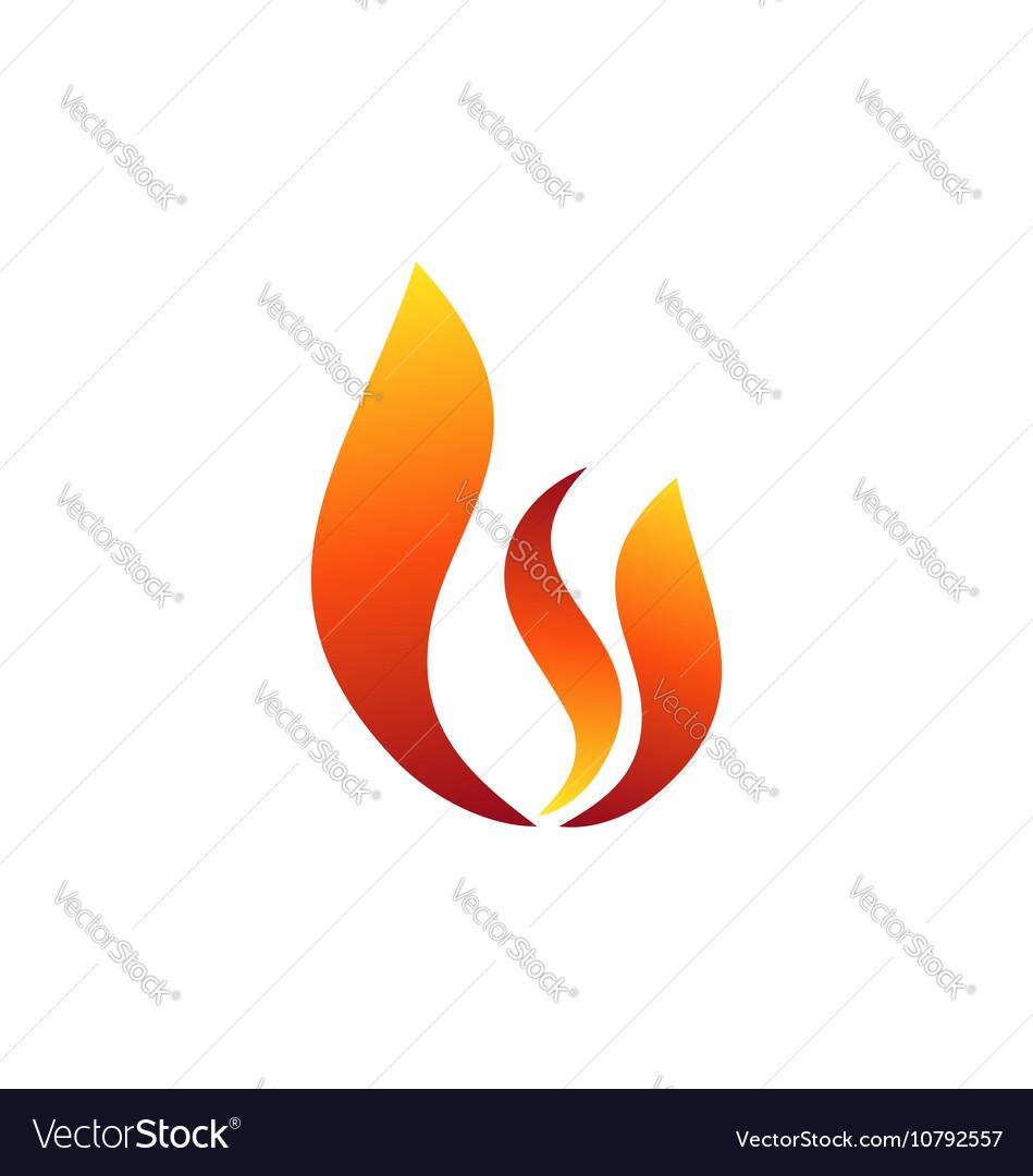 Hot fire flame logo symbol icon design