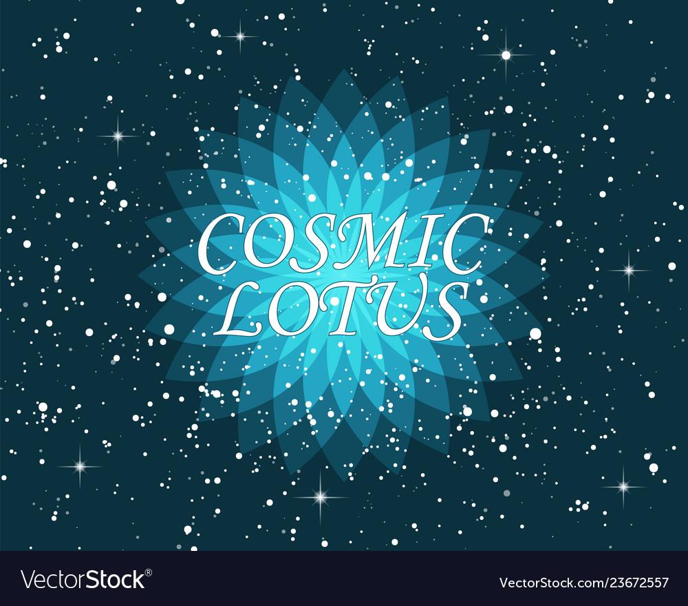 Ornate geometric lotus flower esoteric symbol on