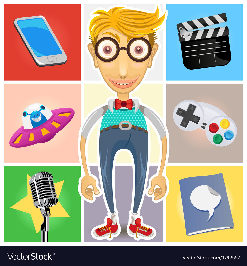 Type Of Nerd Geek Dork Guy vector image