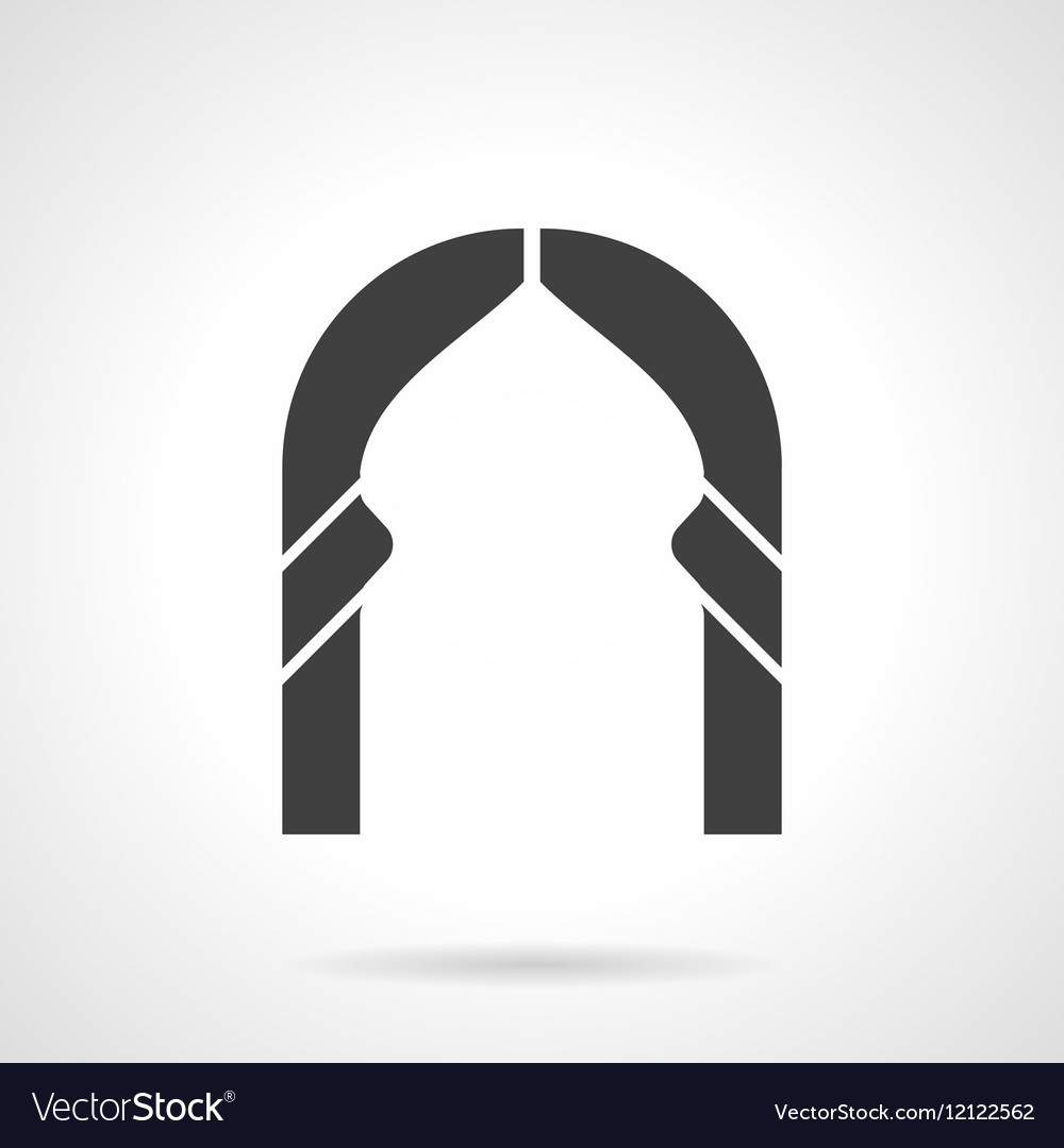 Abstract lancet arch glyph style icon