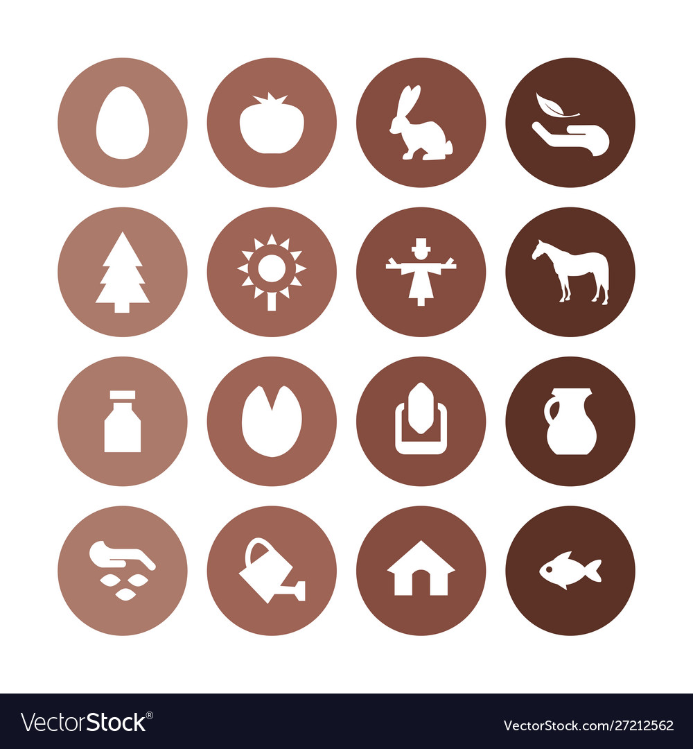 Agriculture farm icons universal set for web and