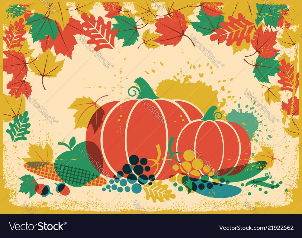 Autumn harvest festival vintage thanksgiving