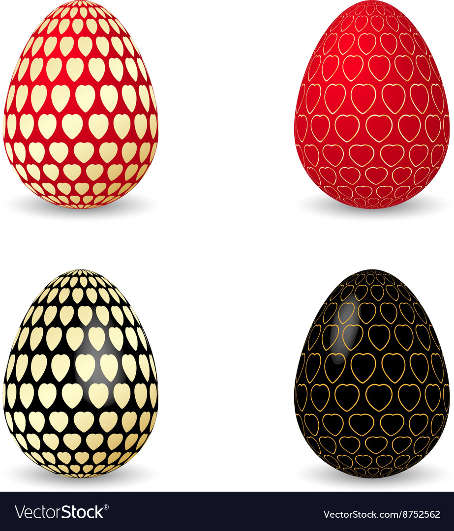 Black and red egg