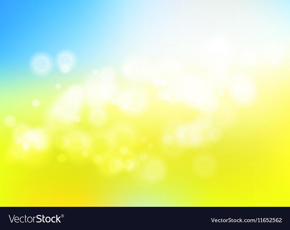 Bokeh blur romantic blue yellow backdrop for eco