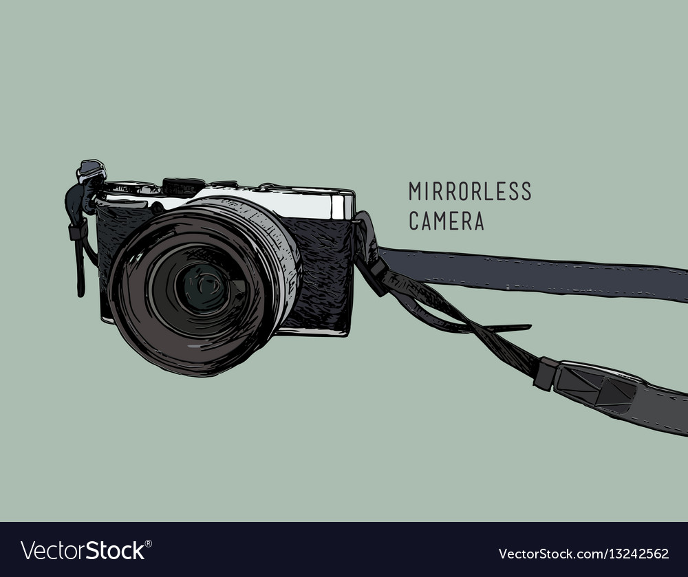 Camera vintage and classic style mirrorless