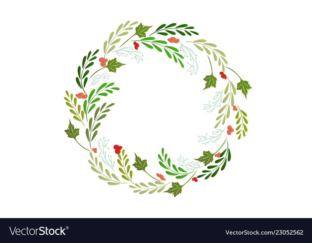 Christmas wreath greetings card