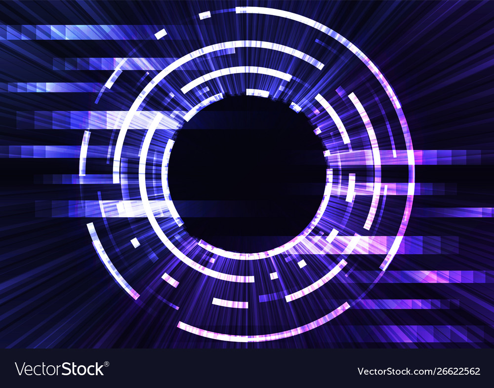 Circle digital pixel abstract background