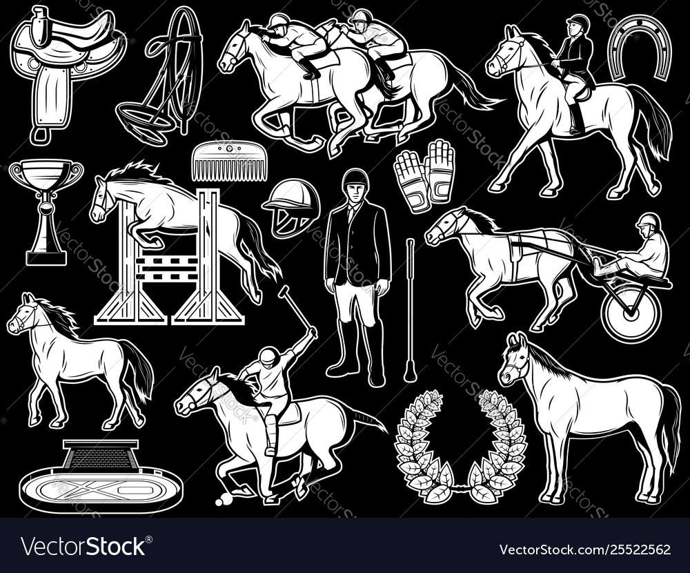 Equestrian club jockey polo horse riding items