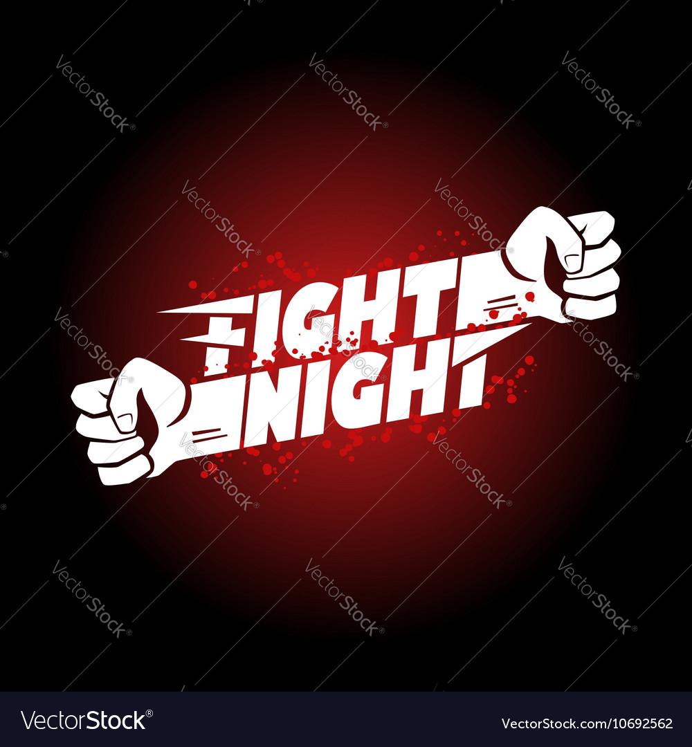 Fight night mma wrestling fist boxing championship