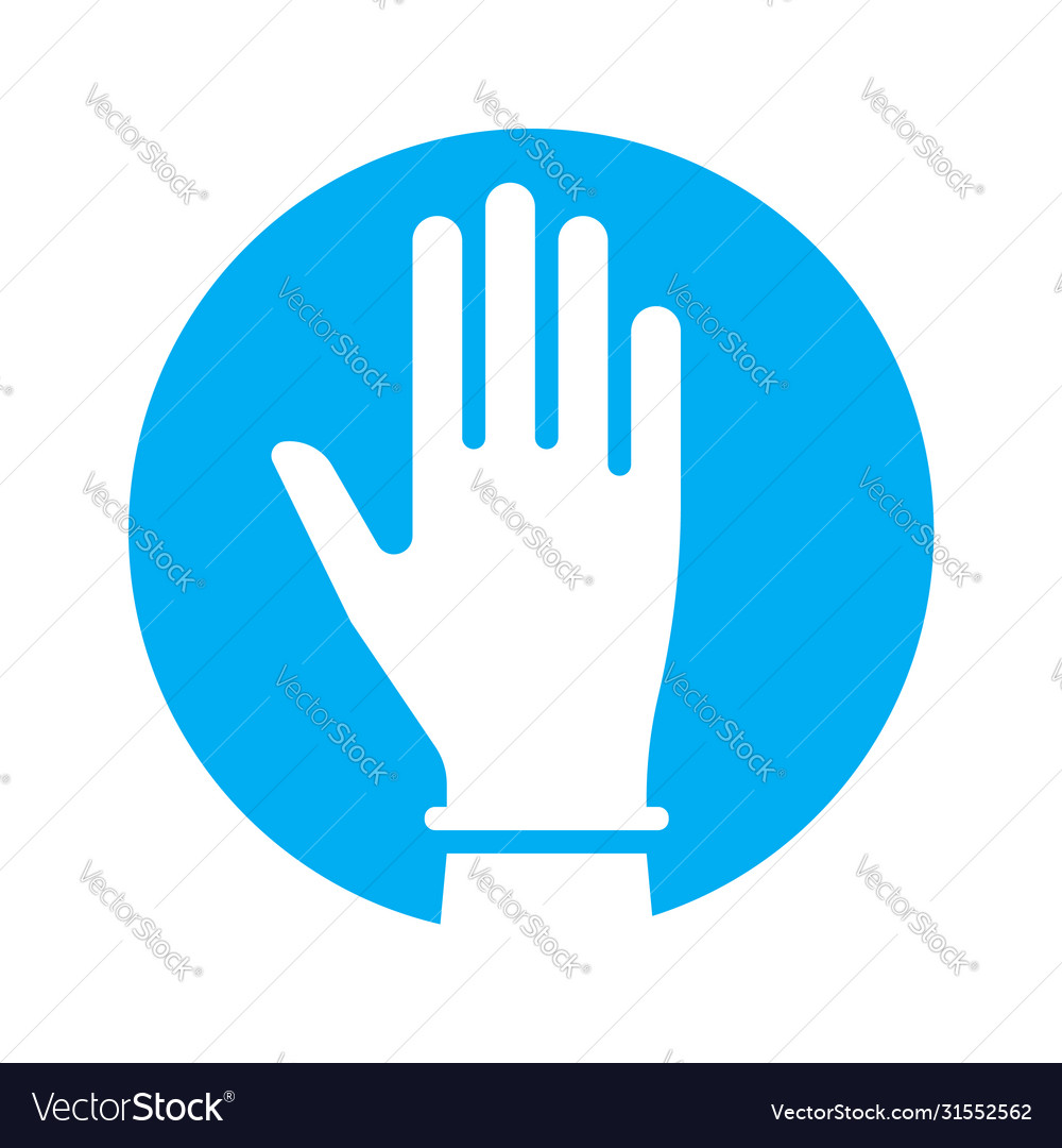 Hand in glove icon symbol fight against