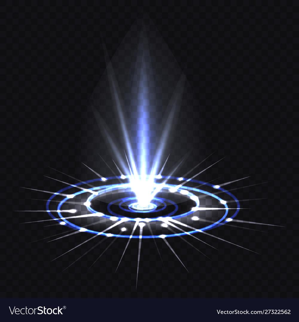 Hologram blue ray or ufo portal magic beam