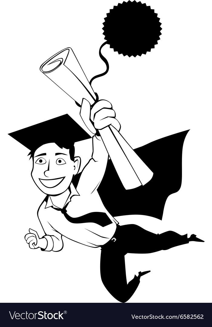 Male graduate clipart