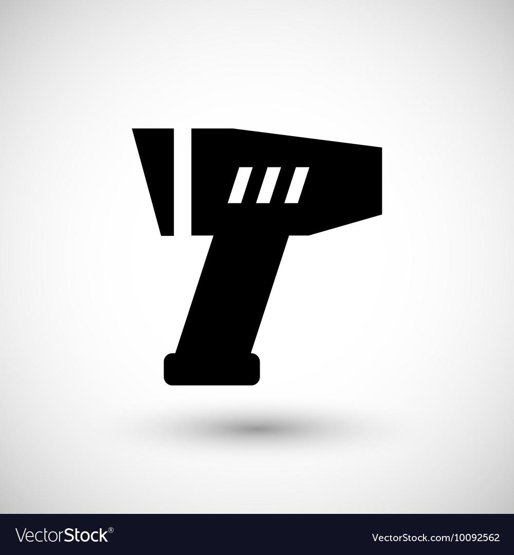 Modern pyrometer icon