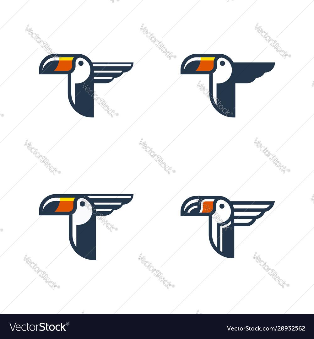 Toucan tropical bird logo template