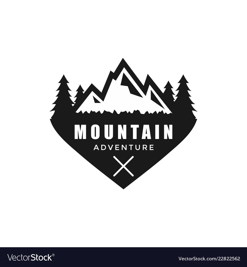 Vintage mountain graphic design template