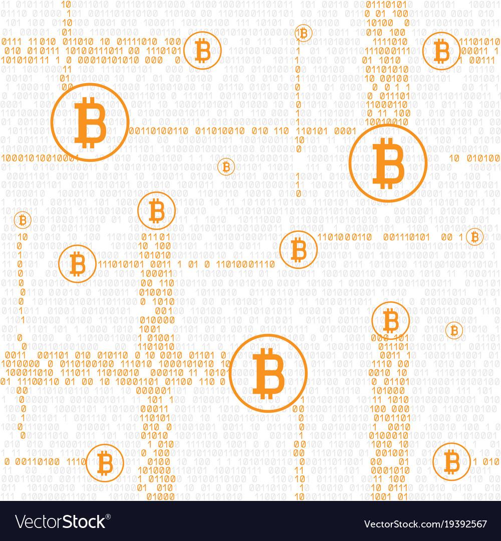 Bitcoin code seamless background