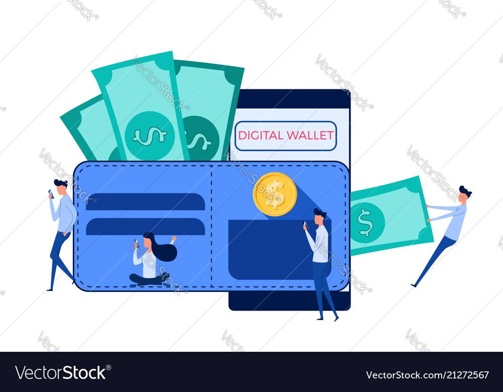Digital wallet mobile banking online finance