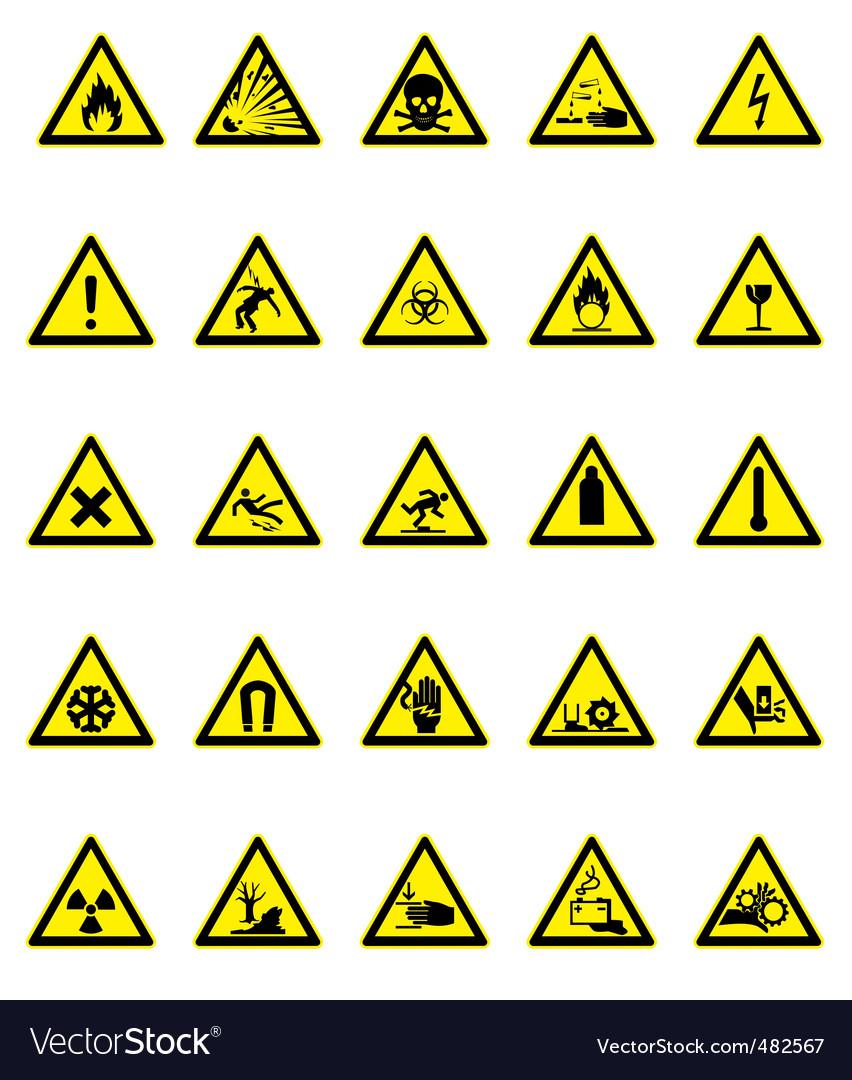Hazard icon set