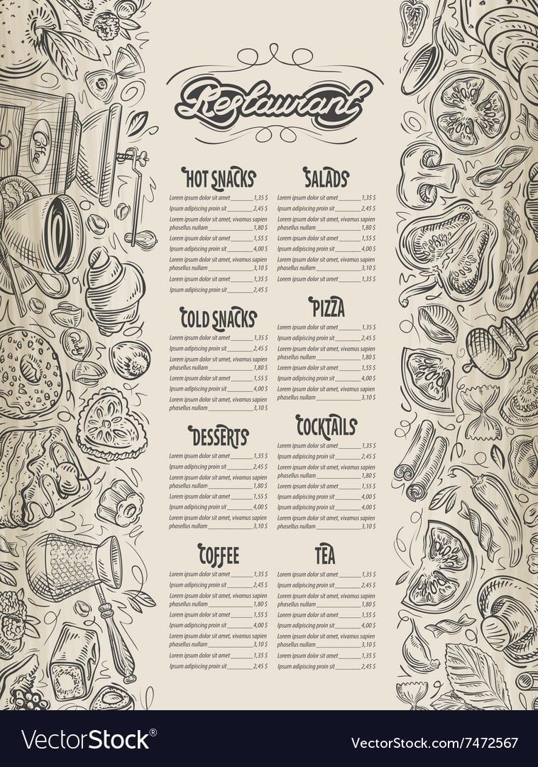 Menu design restaurant brochure Cafe