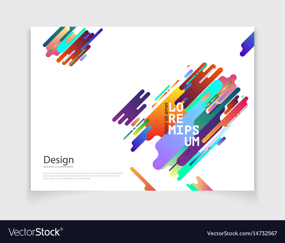 Minimalistic cover or brochure design