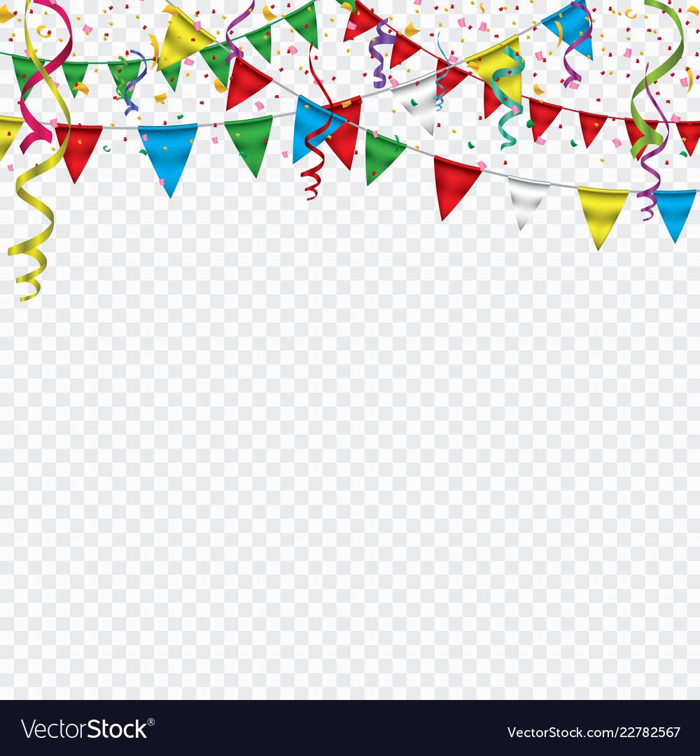 White paper banner for carnivalhappy birthday