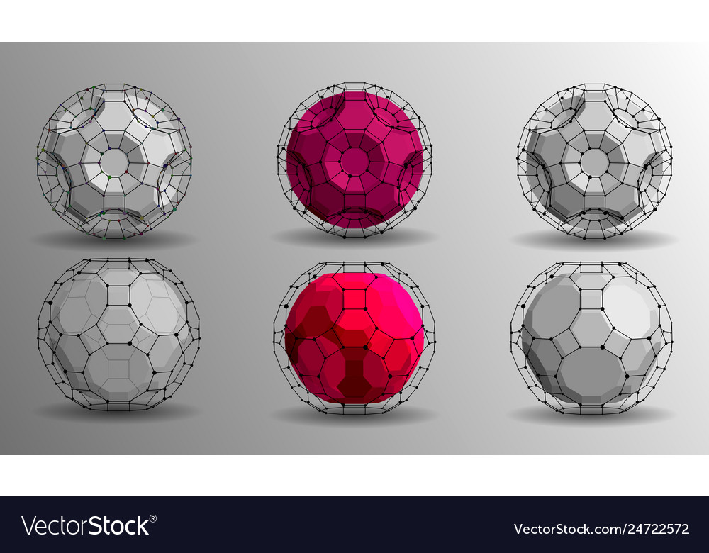 3d geometric background for business or science