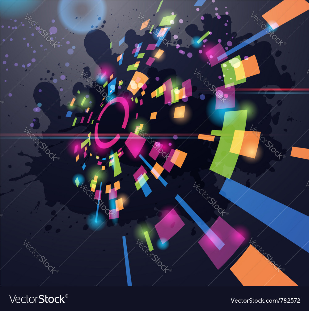 Abstract perspective circle background vector image