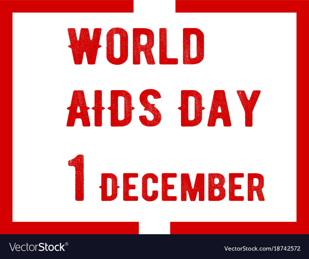 Aids awareness ribbon background world aids day