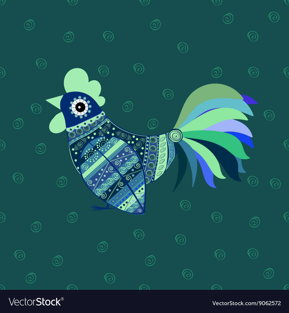Cock bird ethnic pattern