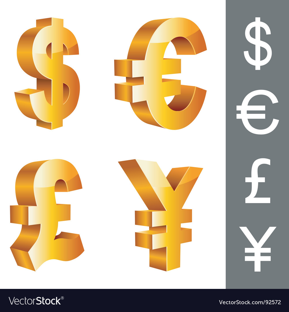 Currency symbols vector image