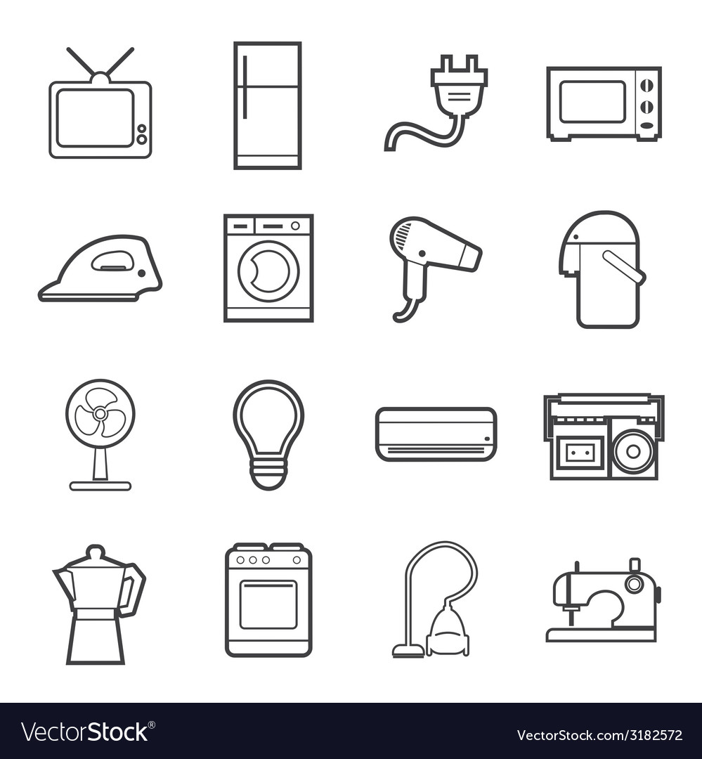 Home appliances icon