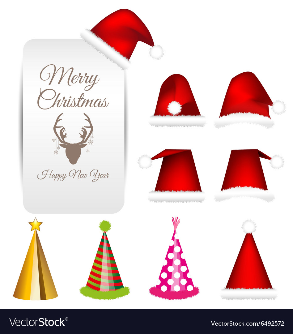 Santa cap and party cap set