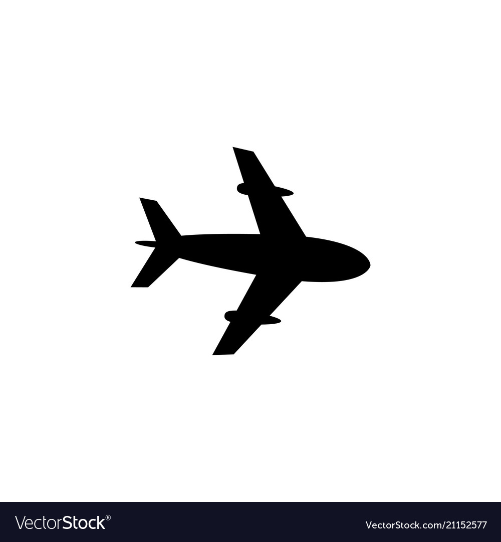 Airplane plane flat icon