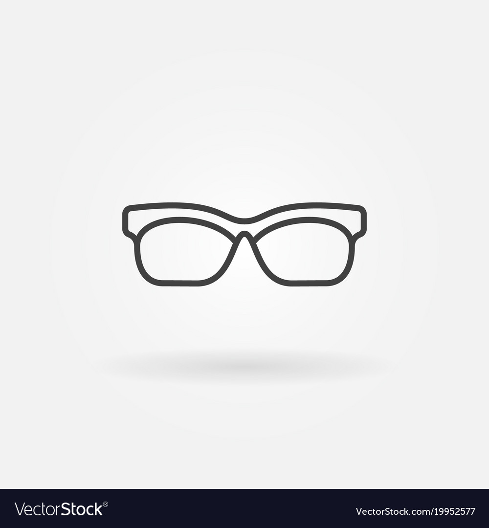 Glasses outline icon sunglasses line