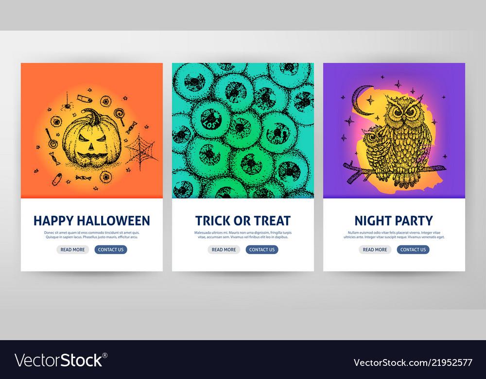 Halloween flyer concepts