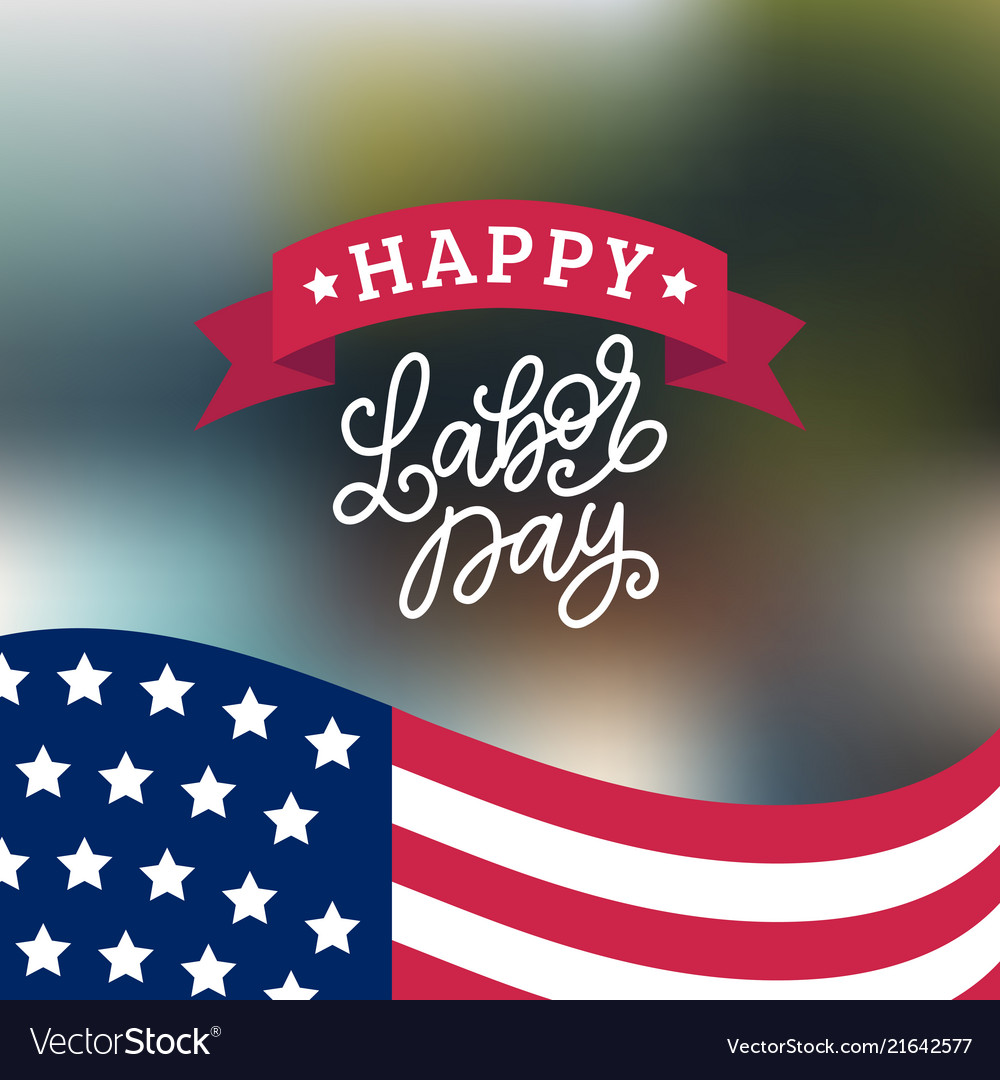 Happy labor day card national american
