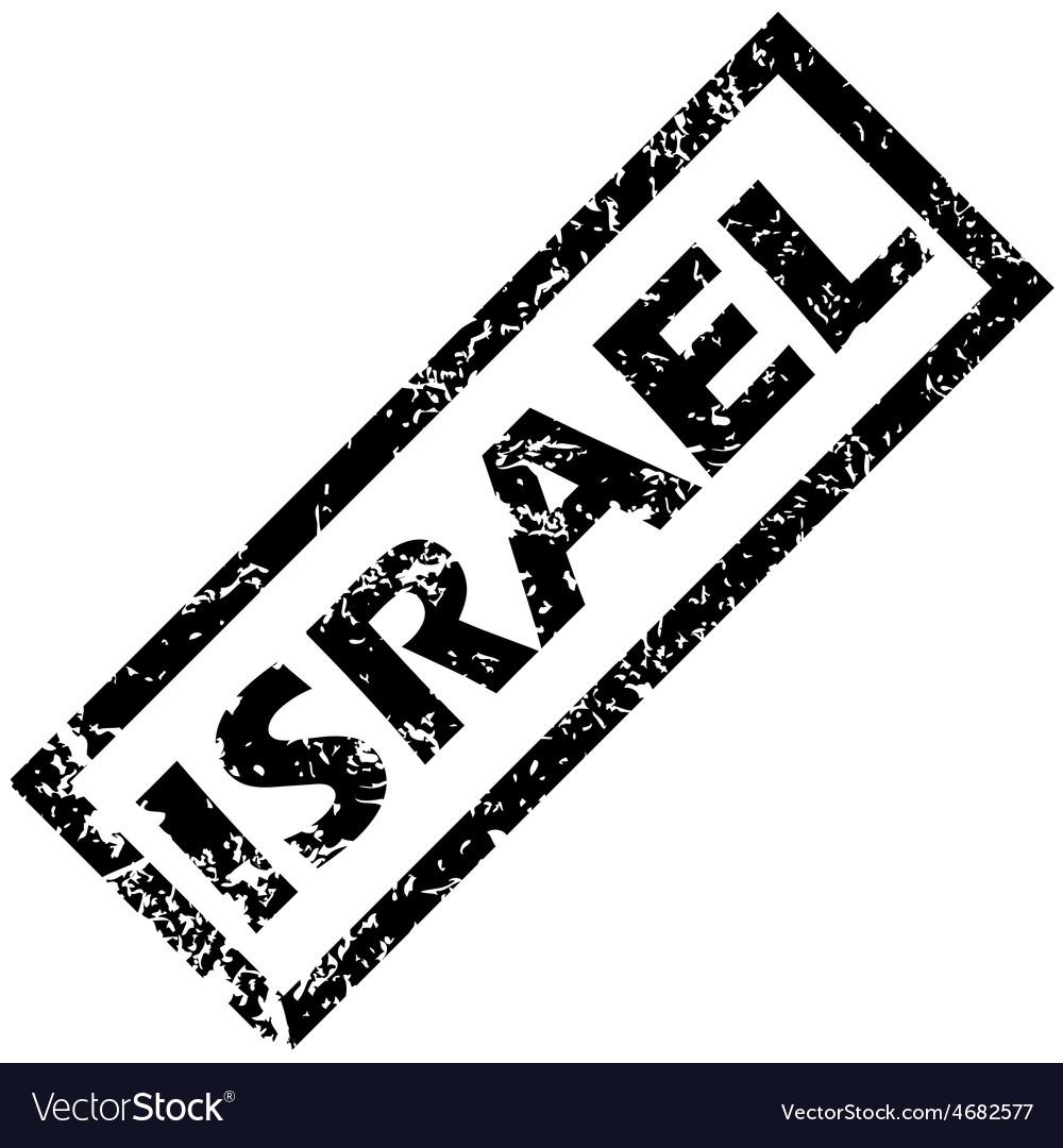 ISRAEL rubber stamp vector image on VectorStock